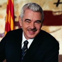 Fotografia oficial de Pasqual Maragall com a president de la Generalitat