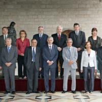 Fotografia oficial del nou govern, després de la sortida d'ERC