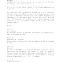 DECRET 340/2006, de 7 de setembre, de convocatòria d'eleccions al Parlament de Catalunya i de la seva dissolució