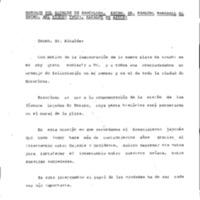 Mensaje del Alcalde de Barcelona, Excm. Sr. Pasqual Maragall al Excm. Sr. Etsuzo Tsuji, Alcalde de Azuchi