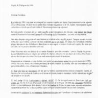 Carta de l'Excm. Sr. Alcalde Pasqual Maragall al President del Govern Espanyol i al President de la Generalitat