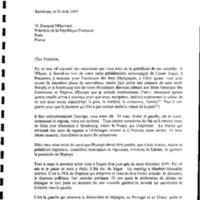 Carta a François Mitterrand, president de la República Francesa