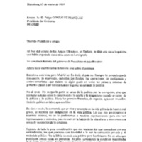 Carta a Felipe González Márquez, president del Govern d'Espanya