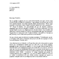 Carta a Václav Havel, president de la República Txeca
